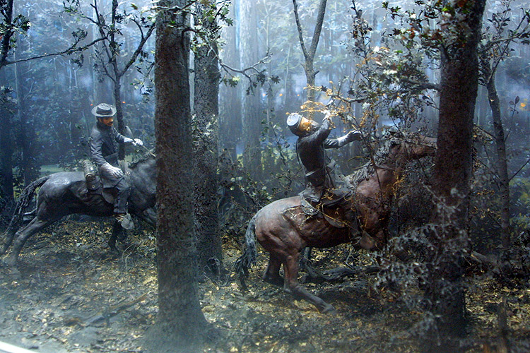 Chancellorsville - A diorama inside the Chancellorsville ...