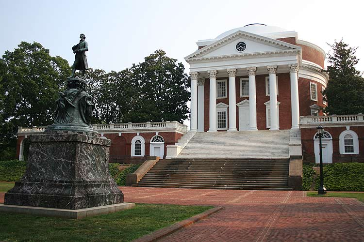the campus of the University of Virginia in Charlottesville, Virginia ...