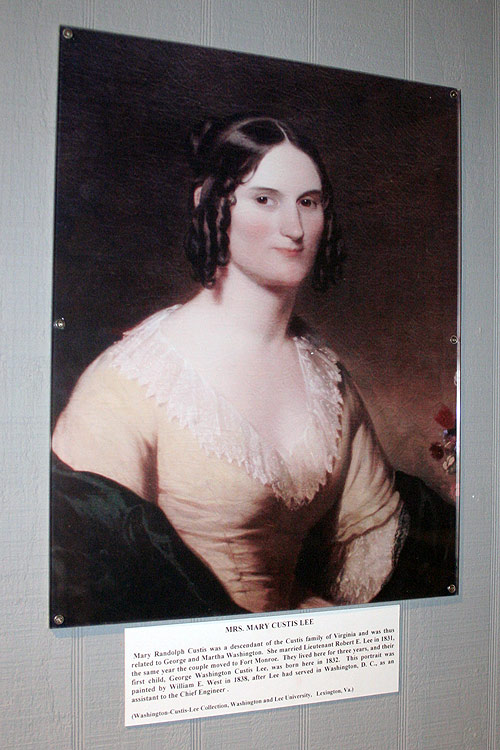 robert e lee wife. A portrait of Mary Custis Lee