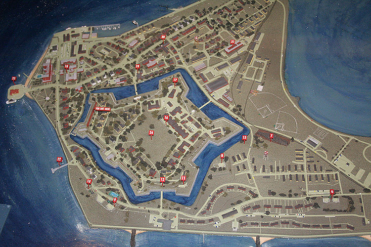 Fort Monroe A map showing Fort Monroe Virginia