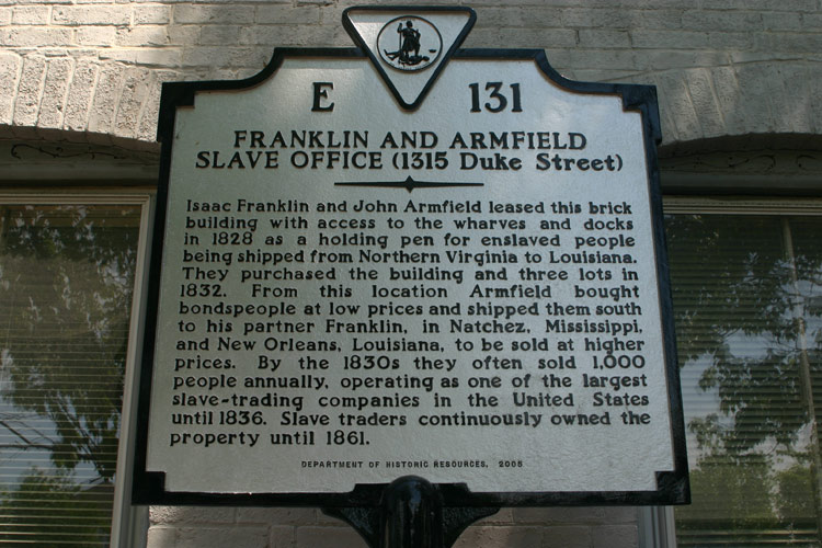 The Franklin And Armfield Slave Office At 1315 Duke Street In Alexandria.