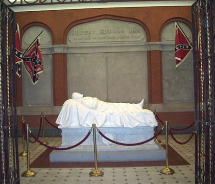 robert e lee. The grave of General Robert E.