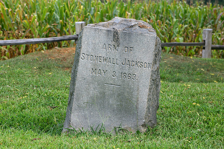 The Wilderness The Gravesite Of The Left Arm Of General Stonewall Jackson After General