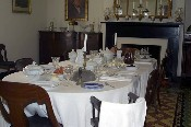 The dining room inside the McLean house where General Robert E. Lee surrendered the Army of Northern Virginia to General Grant on April 9, 1865 ending the Civil War and reuniting the country.  � Mike Lynaugh