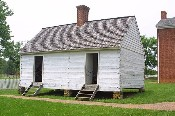 Slave quarters located behind the McLean house in Appomattox Court House, VA.  � Mike Lynaugh