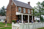 The Clover Hill Tavern at Appomattox Court House.  The tavern was a very popular stage coach stop along the Richmond - Lynchburg stage road.  � Mike Lynaugh