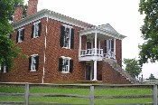 The Appomattox Court House in which the town is named.  Although the McLean house is located just a few yards from this building, no surrender activities took place here.  � Mike Lynaugh