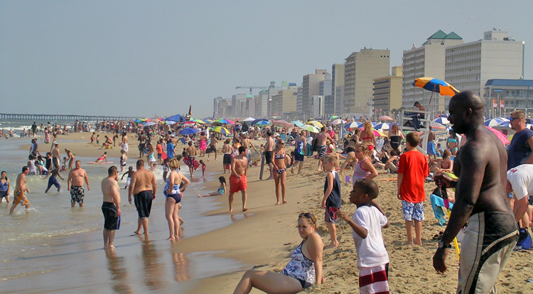 Virginia Residents Flock To Beach On A Hot Summer Day Mike Lynaugh